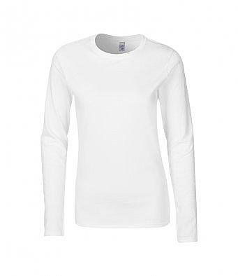 GD76/W LADIES T-SHIRT WHITE LONG