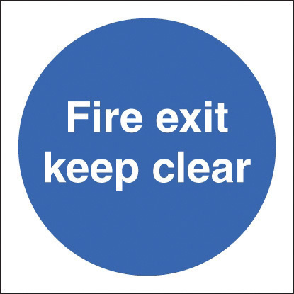 21606F FIRE EXIT KEEP CLEAR S/ADH 200