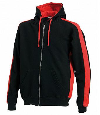 LV330/LD ZIP HOODIE BLACK/RED