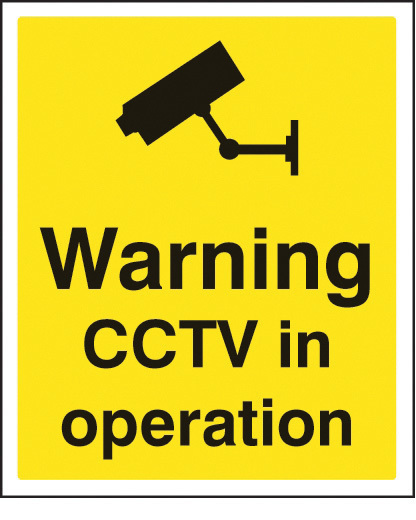 21721H SIGN WARNING CCTV IN OPERATION