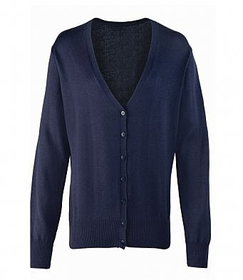 PR697/N LADIES KNITTED CHARCOAL NAVY