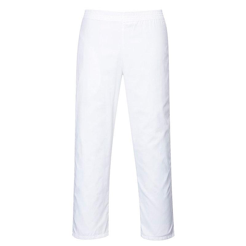 2208/W BAKER TROUSERS WHITE REG LEG