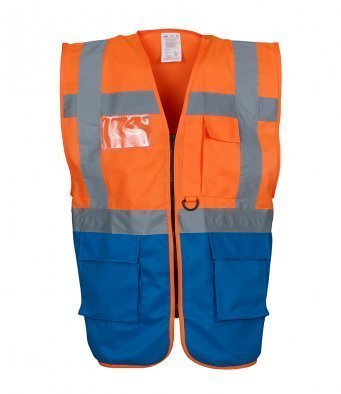 YK103/ORB EXECUTIVE HI-VIS VEST ORANGE