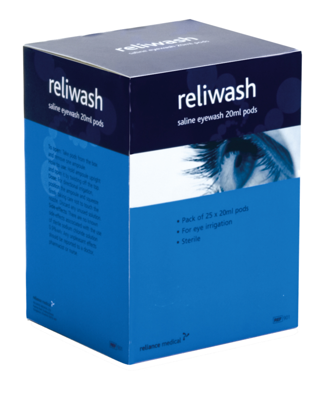 901 RELIWASH SALINE EYE WASH BOX