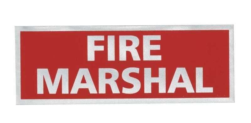 CXBN REFLECTIVE FIRE MARSHAL BACK