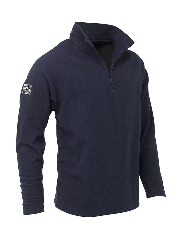 D+AC JCB 1/4 ZIP NAVY MICRO FLEECE