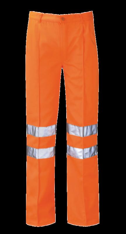 PCRTTR HI-VIS ORANGE TROUSER REG LEG