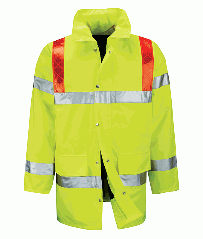 FWRDBJ 3/4 JACKET YELLOW WITH RED