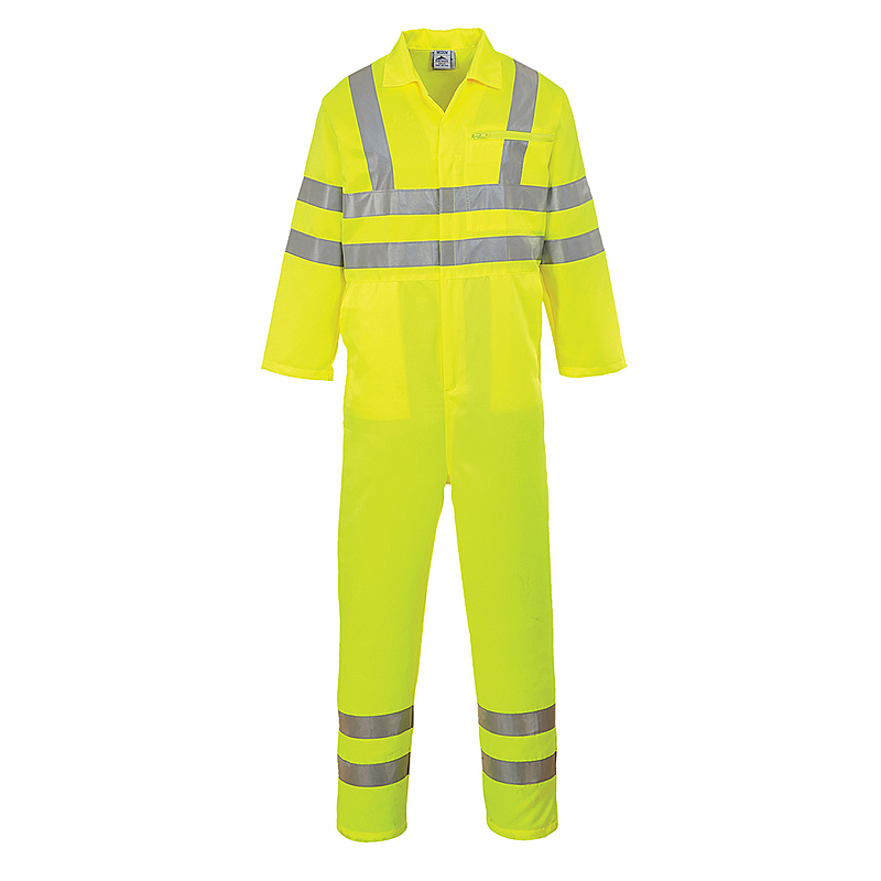 E042/YR HI-VIS POLY-COTTON COVERALL