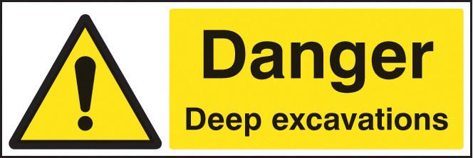14204M DANGER DEEP EXCAVATIONS RIGID