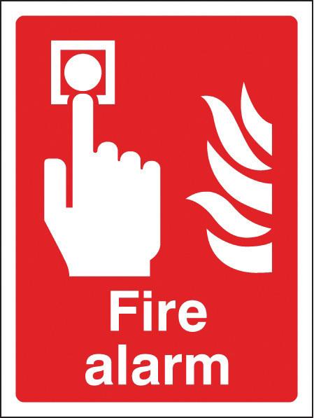 11010E SIGN FIRE ALARM RIGID 150 X