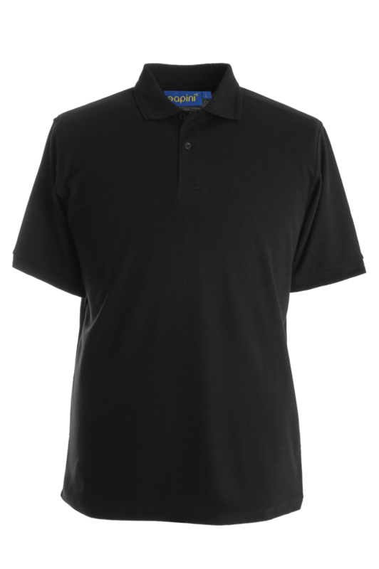 CPKG PAPINI PIQUE POLO SHIRT BLACK