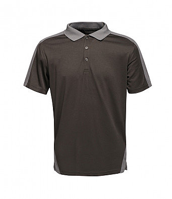 TRS174/LSU COOLWEAVE POLO BLACK/GREY