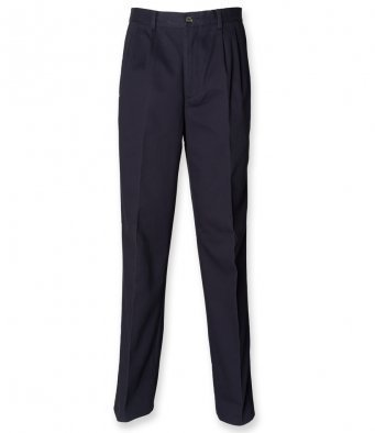 """H600/NL CHINO NAVY TROUSERS TALL 34"""""""