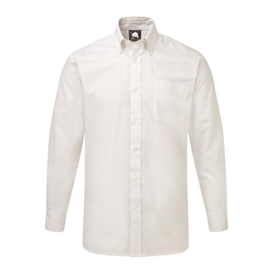 5510-15/W OXFORD SHIRT WHITE LONG SLEEVE