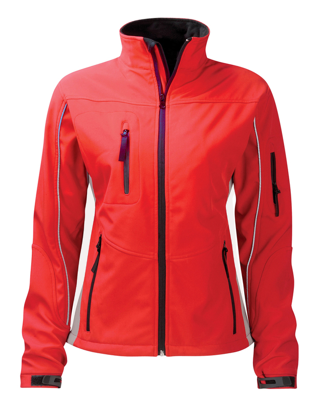 SS3L3/D AMETHYST LADIES SOFT SHELL RED