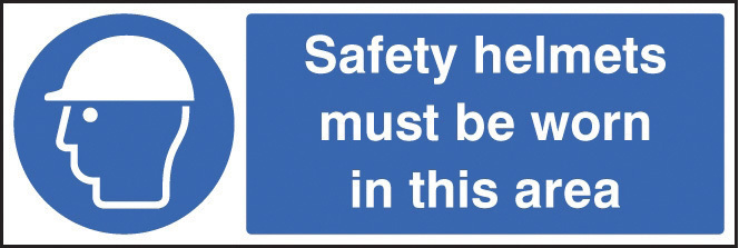15016G SAFETY HELMETS MUST BE WORN