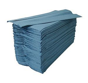 HT2904 1 PLY C FOLD HAND TOWEL BLUE -