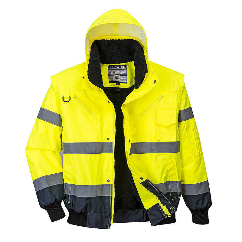 C465/YN HI-VIS BOMBER JACKET 3 IN 1