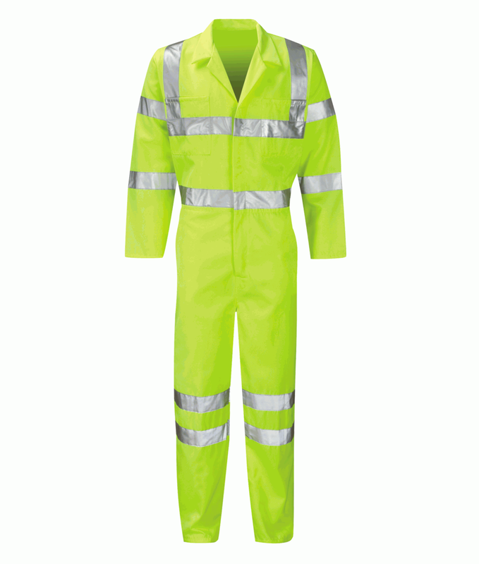 PCENBS/L HI-VIS BOILERSUIT YELLOW TALL