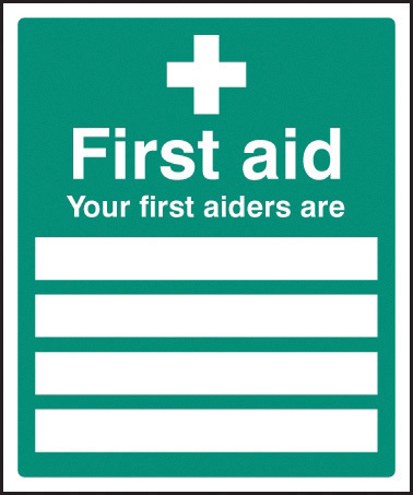 26004H YOUR FIRST AIDERS ARE FAID0004