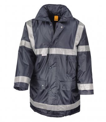 RS23/N HI-VIS NAVY MANAGEMENT COAT